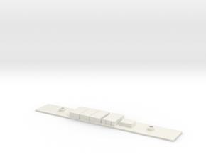 Chasis B S5000 Metro Madrid Subway H0 in White Natural Versatile Plastic