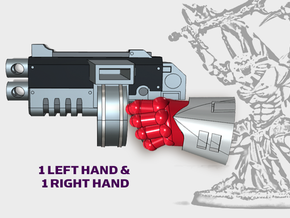 2x Warp Bolter 1 - Demon Lord Weapons (L&R) in Smooth Fine Detail Plastic