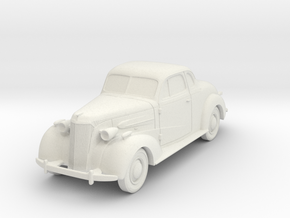 1937 Chevy 1/43 scale in White Natural Versatile Plastic