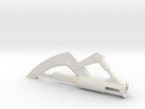 Tonfa Blade in White Natural Versatile Plastic