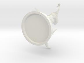 Naga Character 32mm Mini in White Natural Versatile Plastic