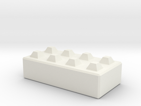 N160 Mega Block 1:50 in White Natural Versatile Plastic