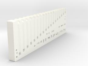 Handrail Bending 0.8mm wire in White Processed Versatile Plastic