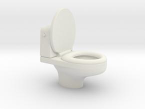 toilet in White Natural Versatile Plastic
