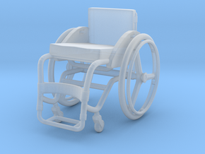 Wheelchair 02. 1:24 Scale in Smooth Fine Detail Plastic