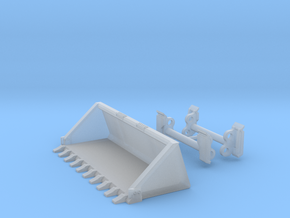 """1:50 S750 Quick coupler and 80"""" tooth bucket in Smooth Fine Detail Plastic"""