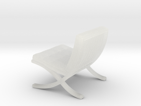 "Mies-Van-Barcelona-Chair - 1/2"" Model in Smooth Fine Detail Plastic"