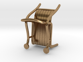 "ThinkingMan Chair - 1/4"" Model in Natural Brass: 1:48 - O"