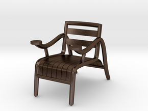"ThinkingMan Chair - 1/4"" Model in Polished Bronze Steel: 1:48 - O"