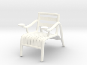 "ThinkingMan Chair - 1/4"" Model in White Processed Versatile Plastic: 1:48 - O"