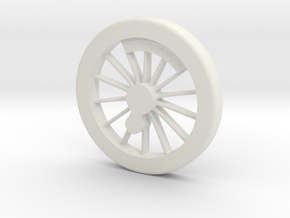 Fire Queen Driving wheel pattern in White Natural Versatile Plastic