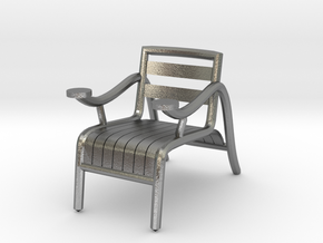 "ThinkingMan Chair - 1/4"" Model in Natural Silver: 1:48 - O"