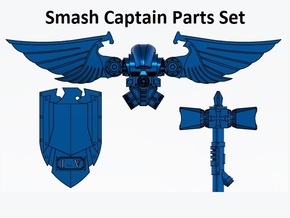 Smash Captain Upgrade Pack, hammer jumppack shield in Smooth Fine Detail Plastic: Small