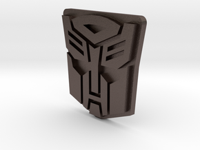 Autobot logo for Lewin Atlas oversized MP-10 Optim in Polished Bronzed-Silver Steel