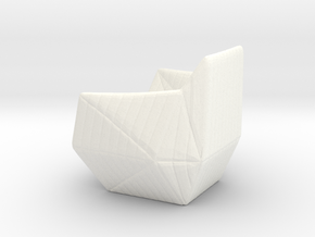"Facett-chair  - 1/2"" Model in White Processed Versatile Plastic: 1:24"