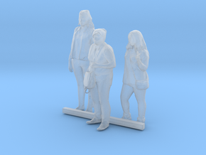 S Scale Standing Women 7 in Smooth Fine Detail Plastic