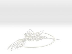 Bird Wall Art in White Natural Versatile Plastic