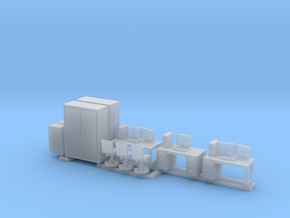 1:100 Office Furniture in Smooth Fine Detail Plastic