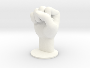 Fist in White Processed Versatile Plastic