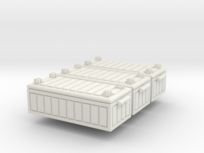 28mm Fallout Crate 3pc in White Natural Versatile Plastic