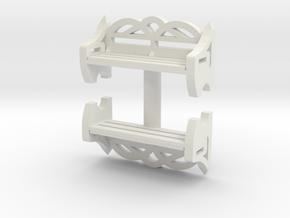 Park Bench (x2) 1/48 in White Natural Versatile Plastic