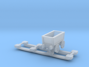 N Gauge Plateway Truck and Track (Static Version) in Smooth Fine Detail Plastic