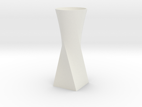 Twist Vase in White Natural Versatile Plastic