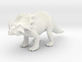 Styracosaurus in White Natural Versatile Plastic