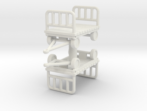 Luggage Cart (x2) 1/72 in White Natural Versatile Plastic