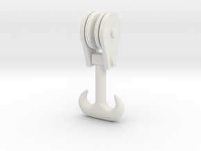 Forged Double Hook - Block 29_1 in White Natural Versatile Plastic