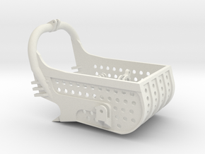 dragline bucket 4cuyd, with holes - scale 1/50 in White Natural Versatile Plastic