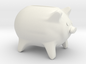 Childs piggy bank in White Natural Versatile Plastic