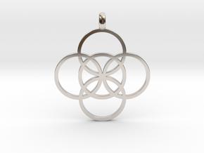 FIVE FOLD Symbol Jewelry Pendant in Platinum