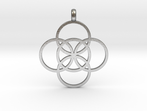 FIVE FOLD Symbol Jewelry Pendant in Natural Silver