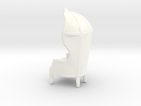 "Armchair-Roof 1/2"" Scaled in White Strong & Flexible Polished: 1:24"