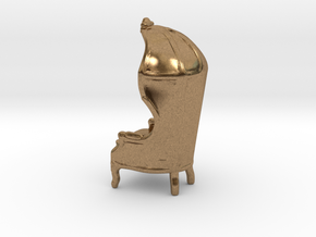 "Armchair-Roof 1/2"" Scaled in Natural Brass: 1:24"