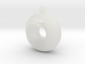 Split Torus pendant  in Smooth Fine Detail Plastic