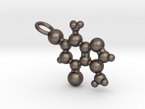 Theobromine Necklace (small) in Polished Bronzed Silver Steel
