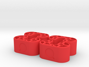 Leg Risers 16mm Production - DJI Phantom in Red Processed Versatile Plastic
