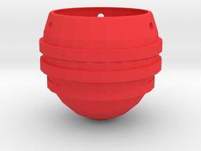 Hanging Plant pot in Red Processed Versatile Plastic
