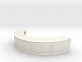 Reception Desk 1/24 in White Natural Versatile Plastic
