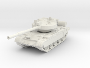 T-62 M Tank 1/100 in White Natural Versatile Plastic