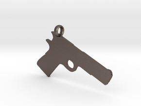 1911 charm in Polished Bronzed Silver Steel