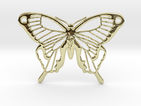 Rune Butterfly in 18k Gold Plated Brass