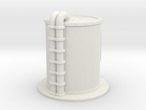 Oil Cistern 1/72 in White Natural Versatile Plastic