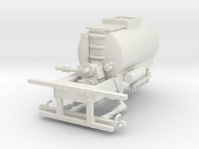 1/64th Asphalt, blacktop or chip seal sprayer tank in White Natural Versatile Plastic