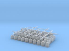 Aspa+sirena+minisirena (x10). Harpoon+CIWS+RAM (x8 in Smooth Fine Detail Plastic