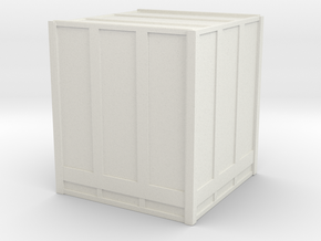 Large Shipping Crate 1/100 in White Natural Versatile Plastic