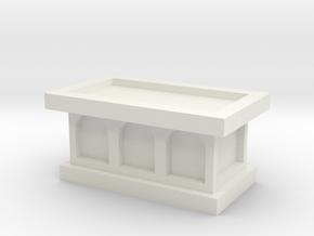 Church Altar 1/48 in White Natural Versatile Plastic