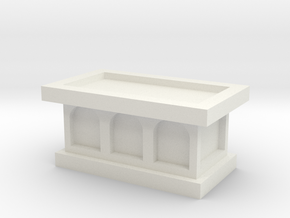 Church Altar 1/43 in White Natural Versatile Plastic